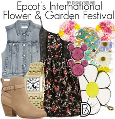How To Wear Epcot's International Flower & Garden Festival Outfit Idea 2017 - Fashion Trends Ready To Wear For Plus Size, Curvy Women Over 50 Disney Themed Outfits, Disneyland Outfits, Disney Bound Outfits, Home Design, Disney Inspired Fashion, Disney Fashion, Festival Outfits, Festival Fashion, Disneybound
