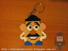Mr Potato Toy Story keyring Hama Beads by Nuria Henares Sanmartín