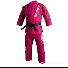 """Adidas Jiu-Jitsu Brazilian Gi Worn twice, in excellent condition. Belt not included.   This pink GI is made especially for advanced Jiu-Jitsu with a double cotton weave. The pants have a drawstring waist.  Total weight about 1.5 lbs.   Size 4/180cm Best fits someone with the height of  5'4"""" - 5'10"""" Adidas Other"""
