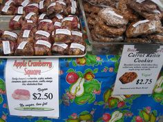 Vegan Muffins and Cookies at Union Square Market in New York by veganbackpacker, via Flickr