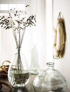 Clearly, I have a thing for glass vases Glass Planter, Glass Vase, Glass Pool, Glass Beach, Bottles And Jars, Glass Bottles, Vintage Bottles, Coastal Style, Home Decor Kitchen