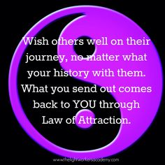 We are all on a journey, learning lessons along the way. Wish others well on their journey.
