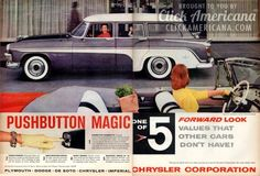 Pushbutton magic on the DeSoto Firedome station wagon (1956) I want this one bad...,Long Roofs Rule!