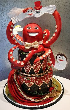 I'd love to meet the couple who wanted an octopus with sock puppets for their wedding cake.