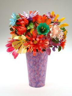 Beautiful water bottle flowers!