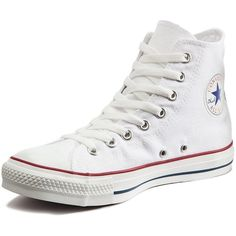 Converse Chuck Taylor All Star Hi-Tops ($67) ❤ liked on Polyvore featuring shoes, sneakers, converse, vintage high top sneakers, high top canvas sneakers, converse shoes, converse high tops and perforated sneakers