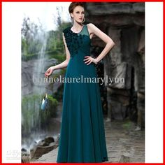 Wholesale A-line Princess Scoop Floor-length Chiffon Bridesmaid/ Wedding Party Dress, Free shipping, $113.64/Piece | DHgate