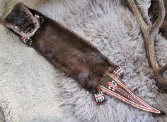 Otter Skin bag - Woodland - Quillwork - Iroquois Made by Romana Ziemann