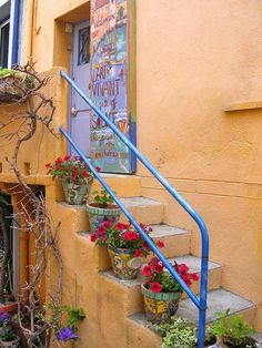 terra cotta and mosaic pots Collioure France