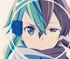 Anime  Anime Girls  Splitting  Faces  Sword Art Online  Asada Shino Wallpaper Outcnigjwm