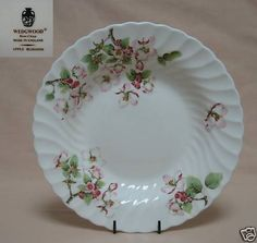 """Wedgwood Apple Blossom Rim Soup, 8-3/4"""" x 1¼"""" high. $24.35 ea, 6 available at wessex-china (UK) on ebay, 1/28/16"""