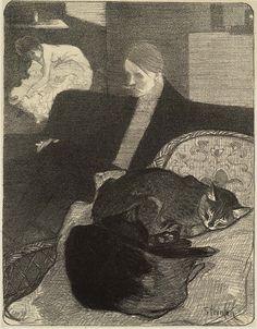 Volupté, ca. 1900. Théophile Alexandre Steinlen. Lithograph