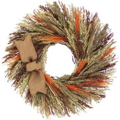 Features:  -Harvest Grains collection.  -Materials are glued in with silicone to a twig base.  --The Harvest Grains collection is designed with natural wheat and orange colored wheat, café sudan grass