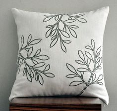 Embroidered pillow > Etsy