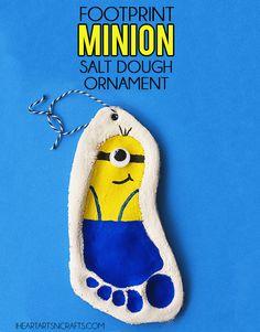 Footprint Minion Salt Dough Ornament