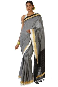 Telia Roomal Handwoven Soft Cotton Saree By Ron Dutta  Rs. 3,015