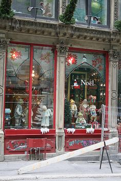 Christmas store in Old City of Montreal