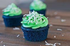 Blue Velvet Seahawks Cupcakes