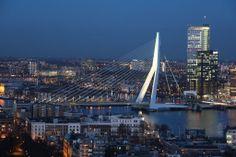 The Erasmus Bridge, seen from the restaurant of the Euromast