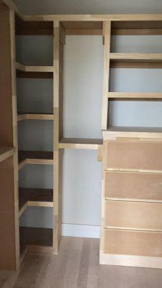 Took 2 days to make! Diy Master Closet, Diy Walk In Closet, Diy Custom Closet, Master Closet Design, Build A Closet, Closet Bedroom, Diy Closet Ideas, Build Your Own Wardrobe, Tiny Closet