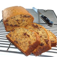 Peanutbutter Banana Bread --great recipe.  I don't put in nuts or choc chips.  Instead of baking in a loaf pan I use jumbo muffin tin and bake for 30 minutes.  Yum!  WL
