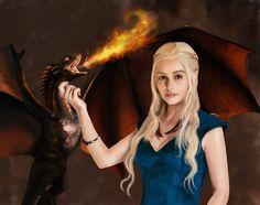 daenerys targaryen dragons fan art - Recherche Google