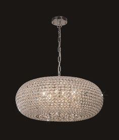 Lámpara ovalada 9 luces CRYSTAL BALLS