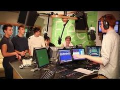 """I love how Louis and Liam are just being total fools and the radio interviewer just ignores them hahaha.   Louis: """"It says do not dial nine..... so I dialed nine."""" Louis looks really muscular (: smexy"""