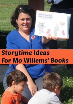 Lots of storytime ideas for Mo Willems' books- There Is A Bird On My Head! and The Pigeon Needs a Bath! Preschool Literacy, Preschool Books, Early Literacy, Kindergarten, Preschool Crafts, Library Lesson Plans, Library Lessons, Elementary Library, Elementary Schools
