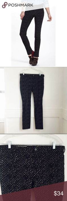 Pilcro cords Pilcro Serif Printed cords. Black with tan print.  Cotton and spandex. Size 30. Excellent used condition. Anthropologie Pants