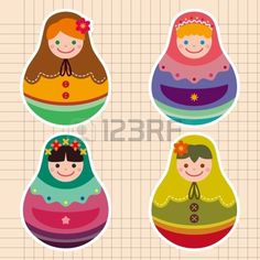 Illustration about Stock,,matryoshka doll in traditional russian. Illustration of collection, babushka, color - 24210450 Felt Magnet, Matryoshka Doll, Paper Dolls, Royalty Free Stock Photos, Objects, Clip Art, Quilts, Stickers, Pattern