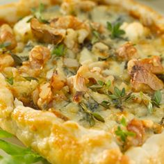 it simple with this recipe for red onion, walnut and blue cheese tarts ...