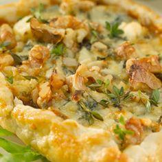 Parmesan Cheese And Walnut Tart Recipe — Dishmaps