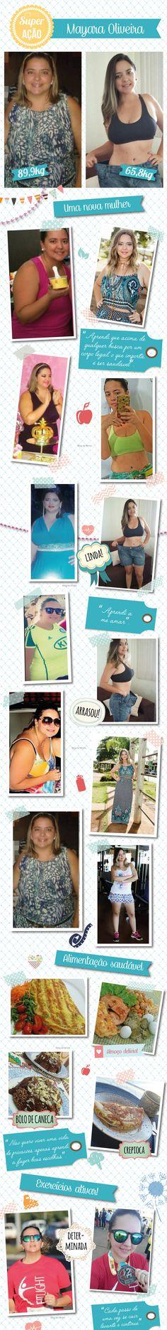 Superação May Oliveira: ela venceu a depressão e perdeu 24Kg - Blog da Mimis #emagrecer #dieta #perderpeso