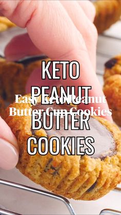 Diet Desserts, Sugar Free Desserts, Low Carb Desserts, Keto Snacks, Low Carb Recipes, Keto Cookies, Cookies Et Biscuits, Keto Peanut Butter Cookies, Low Carb Sweets