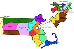 This Map Of Massachusetts Basically Sums It Up