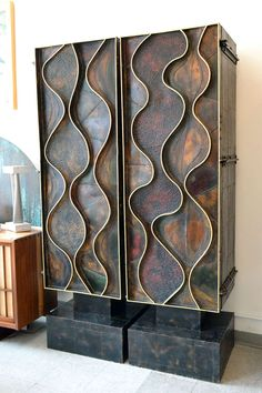 Pair of Wave Front Cabinets by Paul Evans, 1971