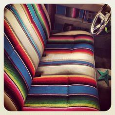 Gypsy Interior Design Dress My Wagon| Serafini Amelia| RV Design Inspiration| SW Style Seat Covering