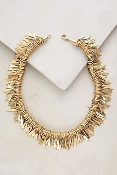 Leo Fringe Necklace - anthropologie.com. -  maybe use rose gold and non-sharp edges