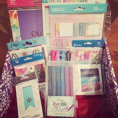 I may have squealed for joy when this shows up on my doorstep today! All of these fun @erincondren goodies! I honestly can't tell you a favorite yet since I love it all!!! The wet erase markers are running a close first for sure! If you know me at all you know pens are my weakness! I'm going to post more pics & a video in the morning! What are you waiting for? With so many new options she has pretty much catered to everyone! #erincondren #eclp #wlec #pgw #plannersgonewild #plannernerd…