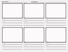 storyboard graphic organizer | This storyboard could be used for a simple…