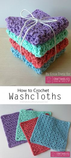 How to crochet washcloths || free pattern! Blossom stitch might e used in those hats.