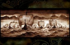 thorvaldviking:  A terrifying sight during the viking ages. When Longships were seen approaching the shore one did not stand and balk like people do today, they fled or armed themselves..there was no other choice.