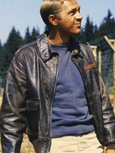 "Steve McQueen - Capt. V. Hilts - ""The Great Escape"" #a2jacket #billkelsomfg"