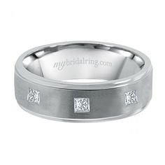 Princess Cut Men's Wedding Band