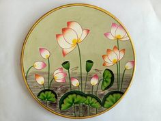 Wooden Plates, Plates On Wall, Decorative Plates, Circle Painting, Cow Painting, Pichwai Paintings, Acrylic Paintings, How To Waterproof Wood, Decoupage Printables