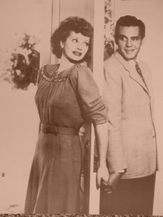 I Love Lucy with Lucille Ball and Dezi Arnaz Sepia Poster