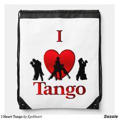 I Heart Tango Drawstring Bag