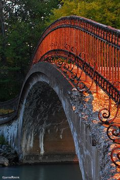 Bridge on Fire, Elizabeth Park, Michigan, USA