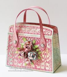 Designs by Marisa: Tonic Studios - Kensington Hand Bag Tonic Cards, Paper Purse, Studio Cards, Shoe Crafts, Craft Bags, Vintage Purses, Folded Cards, Aliexpress, Paper Gifts